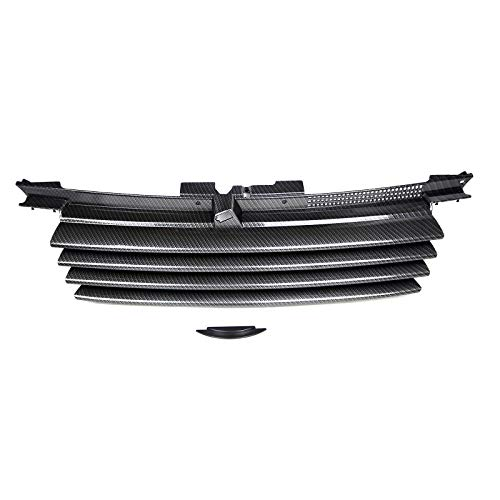 Euro Fiber Style Carbon - ECPP-AUTOTEILE for 99-05 VW Jetta Bora MK4 4Dr Car Grille Grill ABS Carbon Fiber Look Euro Style