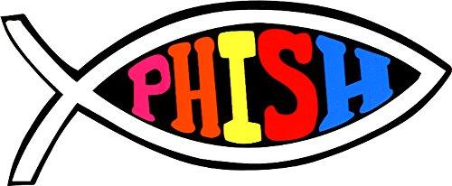 (Phish Logo on Fish Symbol Giant Sticker / Decal)