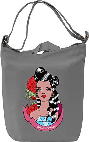 Nuestra Senora Borsa Giornaliera Canvas Canvas Day Bag| 100% Premium Cotton Canvas| DTG Printing|