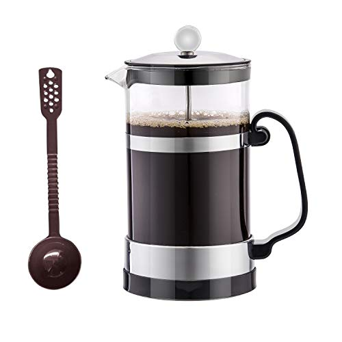 SmartHom French Press Coffee Maker 34 Oz 8 Cups, Particular Coffee Press Tea Maker with Triple Filters and Durable Heat Resistant Glass