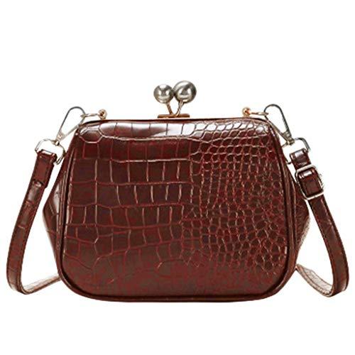 Crossbody Bags JIUDASG Women Fashion Leather Flap Solid Shoulder Messenger Bag
