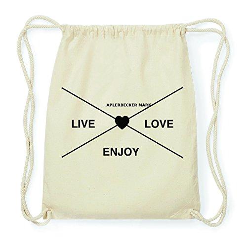 JOllify APLERBECKER MARK Hipster Turnbeutel Tasche Rucksack aus Baumwolle - Farbe: natur Design: Hipster Kreuz YW19E19XW