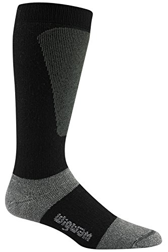 Wigwam Men's Snow Sirocco Knee High Performance Ski Sock,Black,Sock size : Large ( shoe Size : Men's...