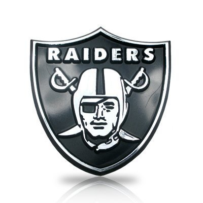 NFL Oakland Raiders Chrome Automobile Emblem