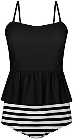 05d954fd50a00 UniSweet Womens High Waisted Bikini Set Flounce Chic Two Piece Swimwear  (FBA)