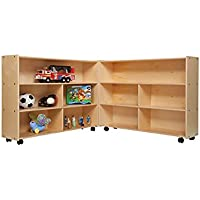 Contender Kids Home School Furniture C13730 Mobile Folding Versatile Storage Unit 35 1/2H