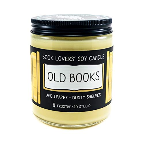 (Old Books - Book Lovers' Soy Candle - 8oz Jar)