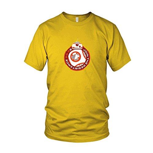 Join BB8 - Herren T-Shirt, Größe: XXL, Farbe: gelb