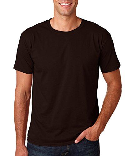 [Gildan Men's Softstyle Ringspun T-shirt - Medium - Dark Chocolate] (Brown Sapphire)