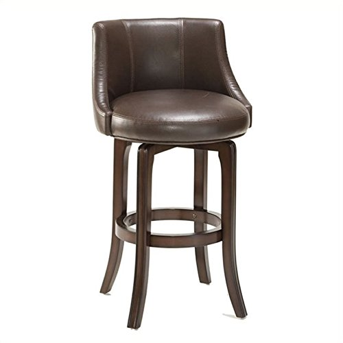 Hillsdale Furniture Napa Valley Swivel Counter Stool - Brown Upholstery (30 in.)