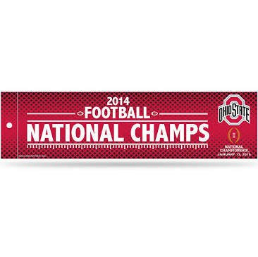 Rico Industries 9474687098 Ohio State Buckeyes Bumper Sticker - 2014 Champ - Ohio Sticker Bumper