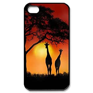 iphone covers Giraffe and sunset High Quality Pattern Hard Case Cover for For Iphone 5 5s Case color13