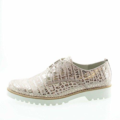 Dorado 4254518 de cordones de repujado Gabor mujer para cuero Dorado Zapatos 6wqzRdd7