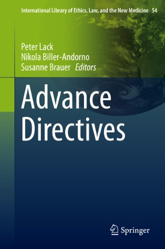 Download Advance Directives: 54 (International Library of Ethics, Law, and the New Medicine) Pdf