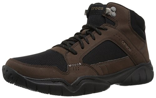 (Crocs Men's Swiftwater Hiker Mid M Boot, Espresso/Black, 9 M US)