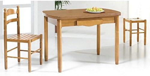 SHIITO Mesa de Cocina Extensible 110 x 70 cm con alas ovaladas y ...