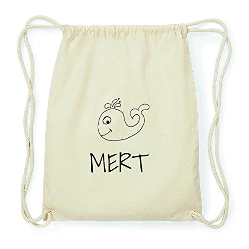 JOllipets MERT Hipster Turnbeutel Tasche Rucksack aus Baumwolle Design: Wal