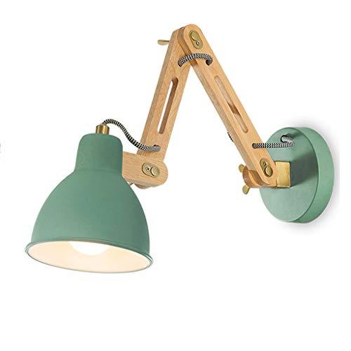 GUO XINFEN Lámpara de Pared Estudio Dormitorio cabecera habitación para niños Simple Moderna Creativa de Madera Maciza...