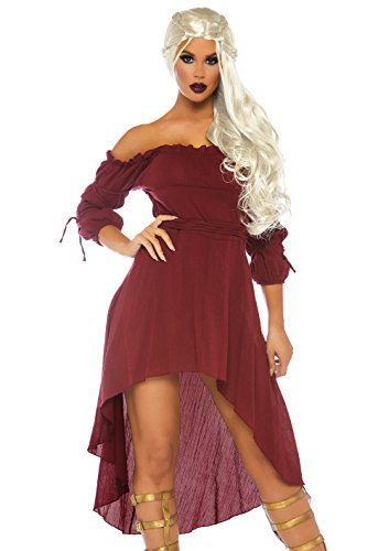 Leg Avenue Women's Plus-Size Plus High Low Peasant