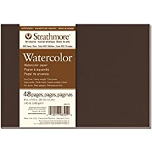 "Strathmore 483-5 400 Series Softcover Watercolor Art Journal, 8""x5.5"" 24 Sheets"