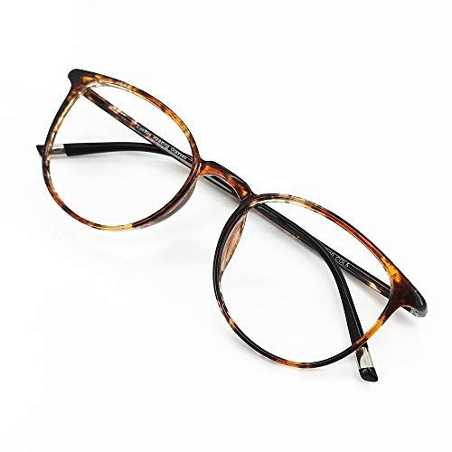 Reading Glasses 3.50 Women Light Weight Round Eyeglasses Frames Tortoise Comfortable