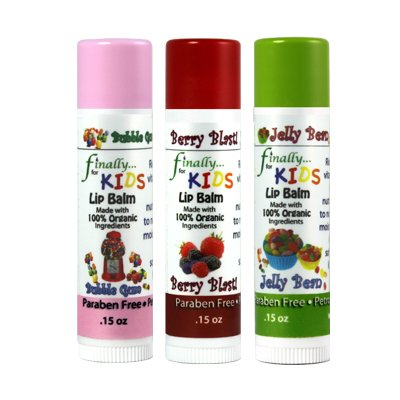 Finally Pure - KIDS Lip Balm Set - Made with ALL ORGANIC Ingredients by Finally Pure, LLC