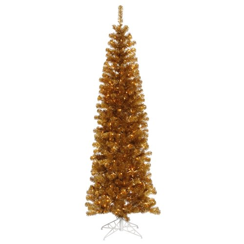 Gold Christmas Tree (Vickerman Antique Gold Pencil Tree Christmas)