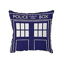 "Doctor Who Blue TARDIS 16"" Cushion"