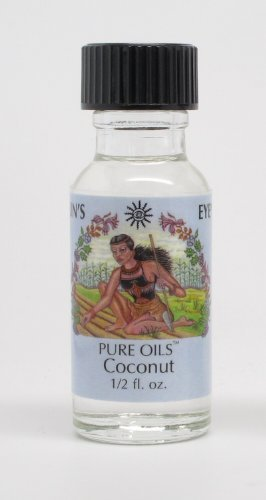 Coconut - 11583 -Sun's Eye Pure Oils - 1/2 Ounce Bottle Perfume Oil Suns Eye