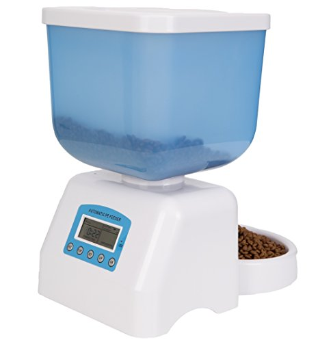 DecoStain Programmable Automative Pet Feeder for Cat,Dog,Rabbit and other Small Animals with Voice Reminding.Dual Power Supply,LCD Display (Capacity 5L) by DecoStain (Image #5)