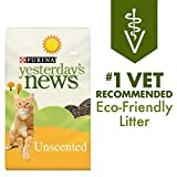 Purina Yesterday's News Non Clumping Paper Cat Litter, Unscented Low Tracking Cat Litter - 30 lb....