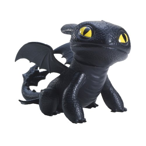 Dreamworks Dragons Defenders of Berk Mini Dragons Toothless Night Fury Action Figure (Sitting) (Fury Dragon Night)