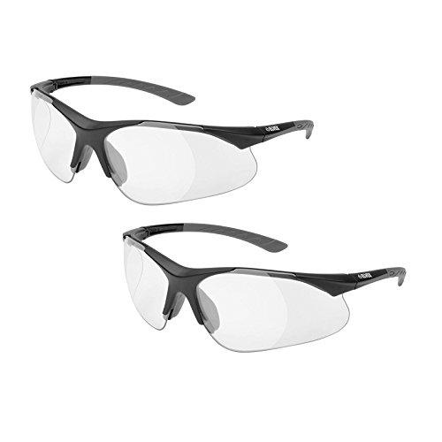 Elvex RX-500C Full Lens Magnifier, Black Frame/Grey Temple Tips (2 Pair) (2.5 Lens)