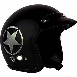 O2 Half Helmet (Black, M)