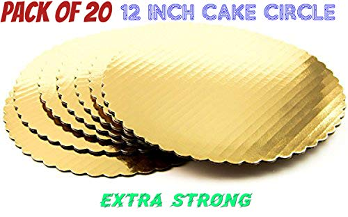 (Cake Board Circle-gold Corrugated Cardboard, gold Cake Circle 100% Food Safe good for Cake(12
