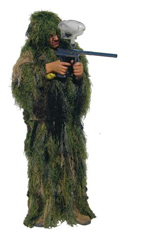 Ghillie Ultralight (Bushrag Kids Ultralight Ghillie Suit - Woodland Camo - Great to use while Paintball)