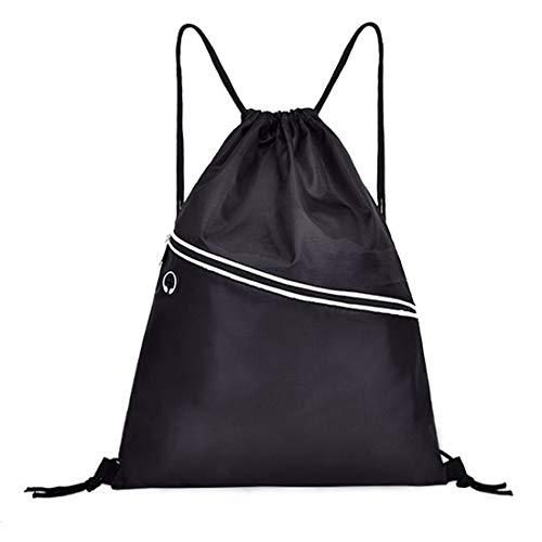 Drawstring Backpack String Bag Sports Waterproof Sackpack Gymsack Gym Cinch Sack