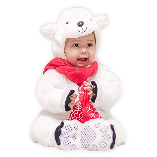 Boleyn Baby Cute Polar Bear Costumes Infant Jumpsuit Casual Toddler Clothes (X-Large (Fit 85-95cm (Bear Suit Costume For Dog)