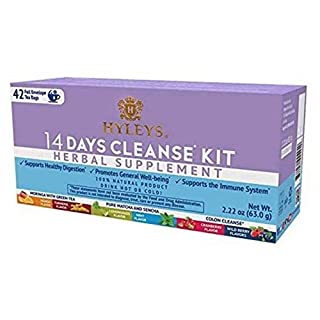 12 Pack - Hyleys 14 Days Cleanse Kit - 42 Tea Bags (100% Natural, Sugar Free, Gluten Free and Non-GMO), 2.22 Fl Oz