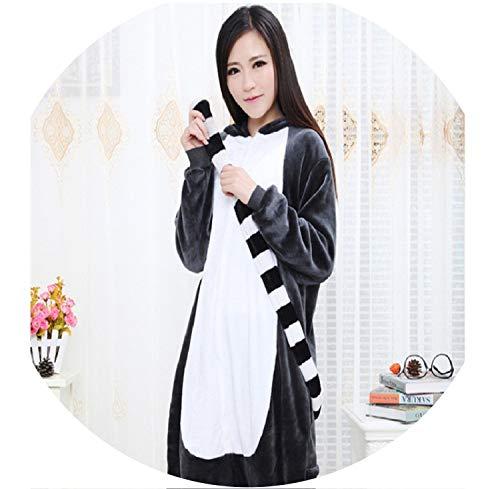 Adult Animal Onesie Lemur Long Tail Monkey Unisex Women Men's Pajamas Halloween Bat Sleepwear,XL