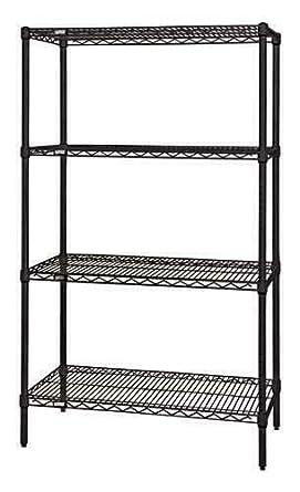 800lb Quantum Single Wired Shelf for Shelving Kit Chrome NSF