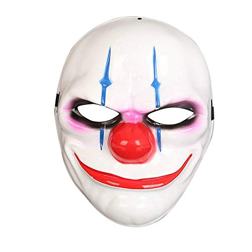 Halloween Mask for Men- Cool Spooky Party Ghost Cosplay Mask Clown Men's Costume Masks Grimace Ghost Mask Scary Zombie (Xchou) ()