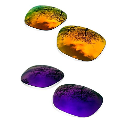 Combo Polarized Purple Mirror + Fire Iridium Replacement Lenses for Oakley - Lens Iridium Oakley Holbrook Fire