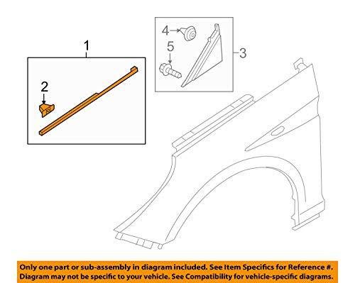 Left Side OEM 877713S001 Front Fender Driver Side Chrome Molding for Hyundai 11-14 Sonata i45