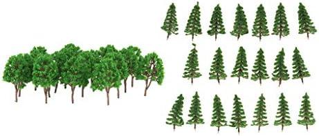sharprepublic 約40本 モデルツリー 木の模型 モデル木 1/150スケール 鉄道模型 道路風景 シーンアクセサリー