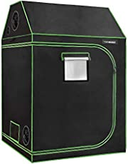 """VIVOSUN 60""""x60""""x72"""" Indoor Grow Tent, Roof Cube Tent with Obeservation Window and Floor Tray for Plant Growing"""