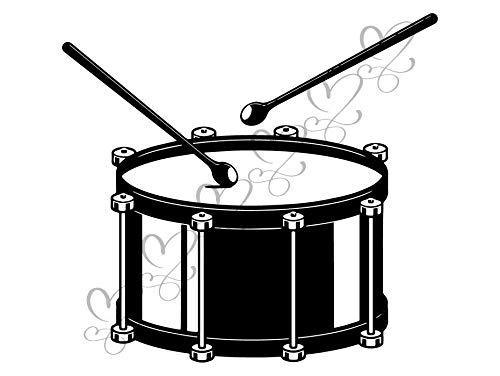 Yetta Quiller Drummer Drum Kit Jazz Music Orchestra Double Bass Symphony Heavy Metal Vector Clipart Digital Download Circuit Vinyl Cutting Sticker (Drum Kits Download)