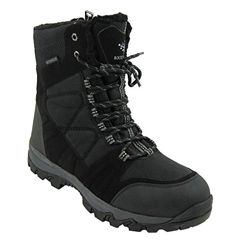 - Rocky Moose Men's Winter Ice Snow Boots Waterproof Guaranteed 3M Thinsulate Fur Lining Super Warm Comfy Ohio (12, Black)
