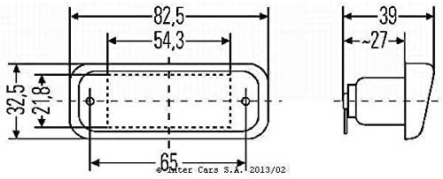 Hella 2KA 005 049-017 Licence Plate Light