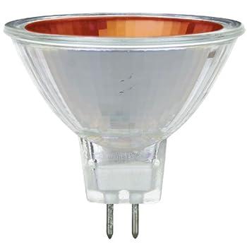 Sunlite 50MR16/NSP/12V/R 50-Watt Halogen MR16 GU5.3 Based Mini Reflector Bulb, Red